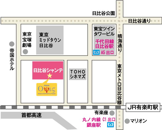 オプシス日比谷本店の地図
