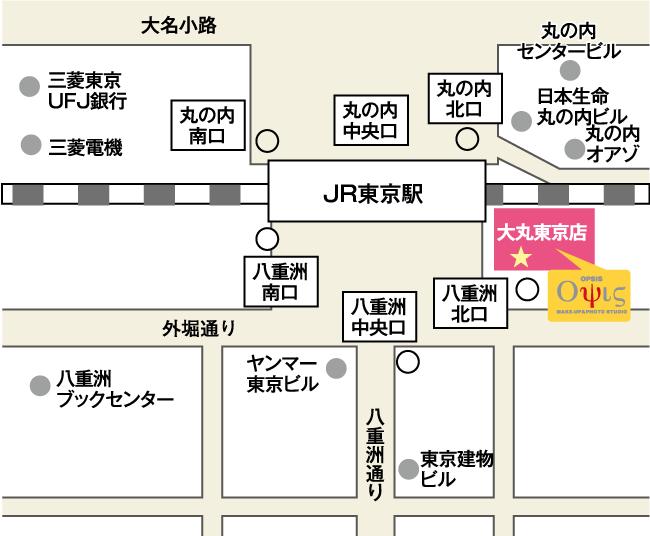 オプシス大丸東京店の地図